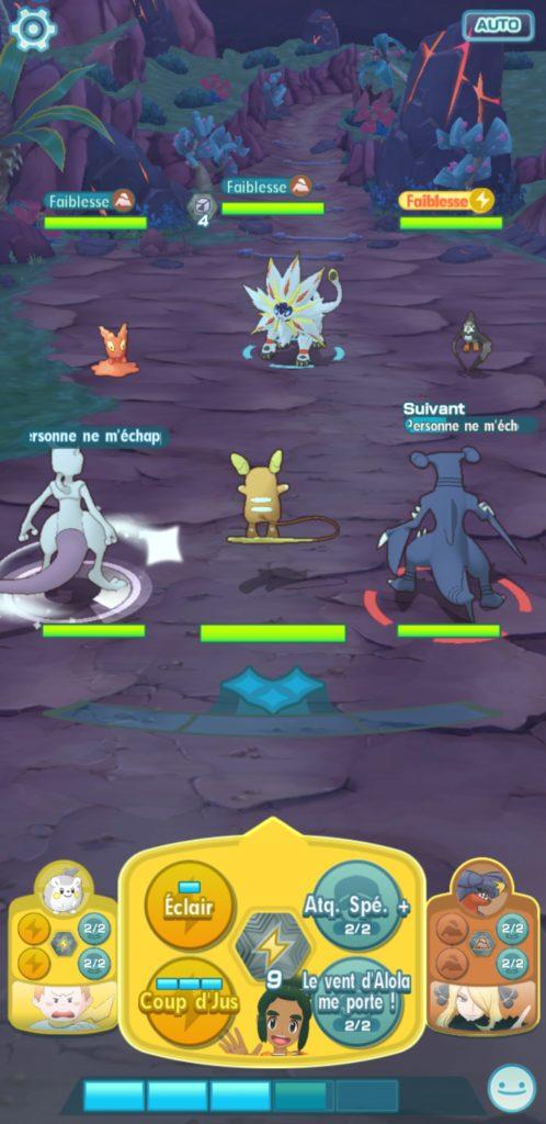 En direct d'un combat de Pokémon
