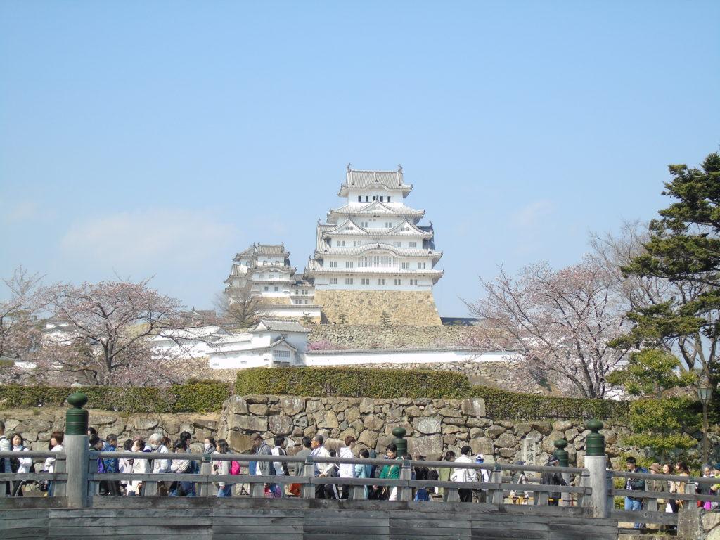 Chateau Himeji depuis le pont