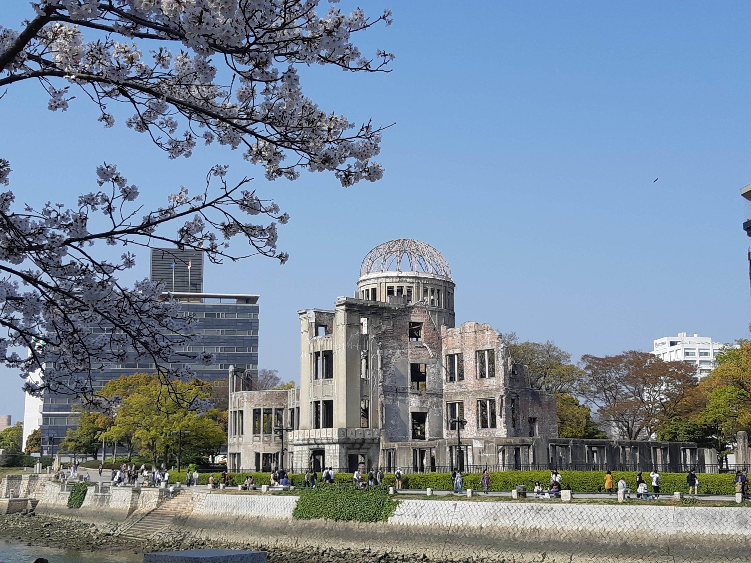 Hiroshima dome sakura