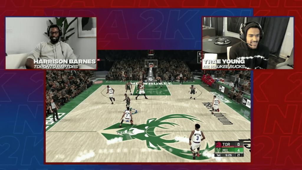 Les joueurs de laNBA s'affrontent en live sur NBA2K