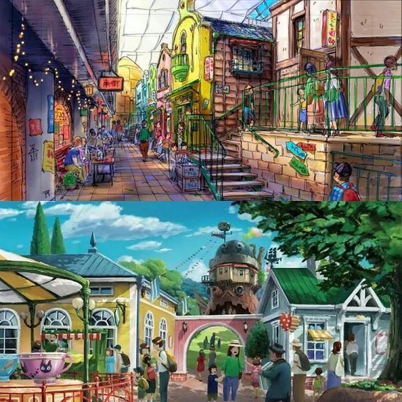 Plan du parc d'attraction prévu pour 2022