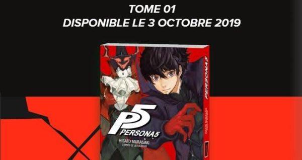 Persona 5 image promotionnelle - Mana Books - Hisato Murasaki - Atlus